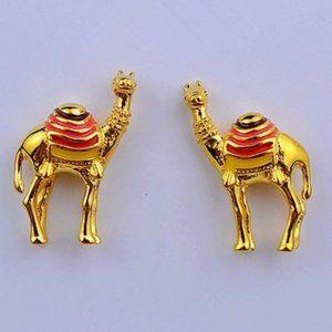 Kate Spade Enamel Glazed Camel Earrings